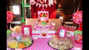 Birthday Table Decorations by Second Birthday Party Decorations At Home Ideas Youtube