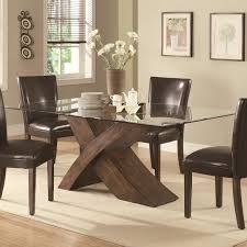 glass top tables dining room glass top dining table with wood base esrogim net wood and glass