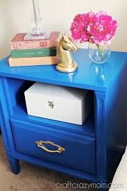 diy blue nightstand makeover