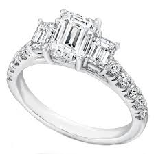 three emerald cut engagement rings engagement ring three emerald cut cathedral