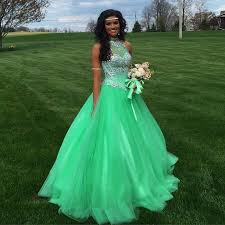 quinceaneras dresses 2016 mint green quinceanera dresses with high neck beaded