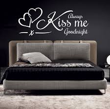 always kiss me goodnight wall art sticker quote decal zoom