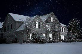 Christmas Lights Projector On House by Night Stars Landscape Lighting Viatek Consumer Products Group Inc