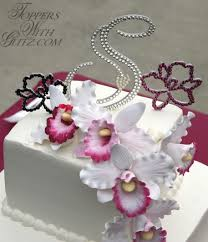s cake topper orchid cake topper toppers with glitz