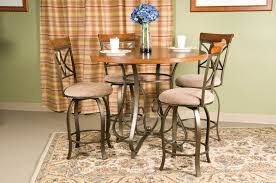 counter height dining table with swivel chairs hamilton five piece counter height dining set matte pewter bronze