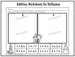 halloween math worksheets first grade by first grade first tpt