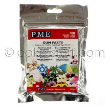 pme red gum paste sugarcraft modelling 200g edibles from cake