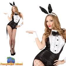 Halloween Costumes Playboy Bunny Black Playboy Bunny Tuxedo Valentine 6 24 Womens Ladies Fancy