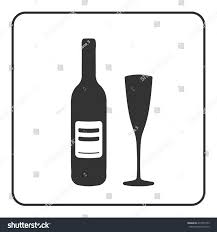 cocktail silhouette png alcohol icon bottle wine sign black stock vector 413757973