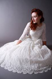 wedding gowns 2017 vintage 50s poland style scoop neck tree