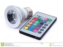 Color Led Light Bulbs by Multi Colour Led Light Bulb And Remote Control Royalty Free Stock