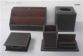 Desk Organizer Leather Cheap Wholesale Leather Office Desk Organizer Accessories
