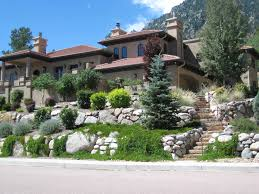 Landscaping Ideas For Front Of House by Landscape Design Colorado Springs Fredell Enterprises Inc