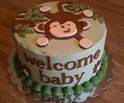 photo monkey themed baby shower corsage image