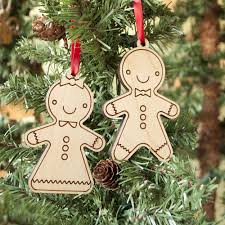 gingerbread ornaments gingerbread wooden christmas ornaments set of 2 graphic spaces