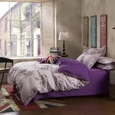Purple Full Size Comforter Sets Wholesale Bedding Sets Cotton Set Purple Urban Style Good Quality
