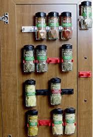 Flat Spice Rack Amazon Com Spicestor Organizer Rack 20 Cabinet Door Spice Clips
