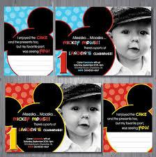 first birthday mickey mouse invitations iidaemilia com
