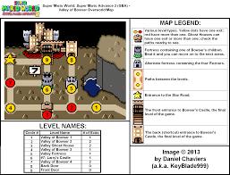 Super Mario World Level Maps by Super Mario World Super Mario Advance 2 Valley Of Bowser