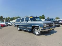 chevy suburban blue chevy and gmc suburban traveltime vans conversion packages