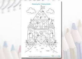 cinderella castle pdf download coloring page kids being