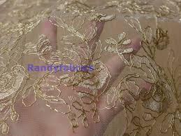 wedding dress material gold lace fabrics 120cm wide wedding dress fabric by randyfabrics
