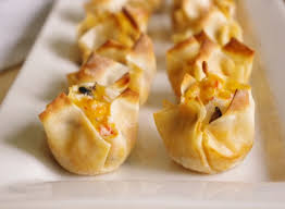 cuisine appetizer crab and cheddar wonton bites easy appetizer recipe