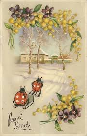 happy new year post card vintage happy new year postcard ladybugs happy new year