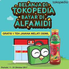 Teh Javana 350ml alfamidi promo spesial gratis 1 teh javana melati 350 ml