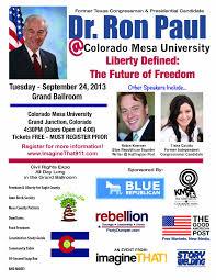 Colorado Mesa University Map by Blue Republican Colorado Hosts Ron Paul Blue Republican
