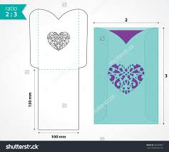 wedding pocket envelopes pocket envelope template with die cut heart shape wedding