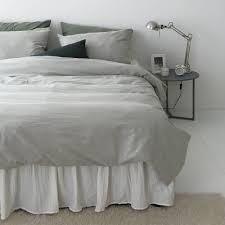 gray bio washing cotton duvet cover soft cotton bedding pigment