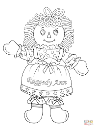 raggedy ann doll coloring page free printable coloring pages