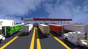 minecraft truck travel centre u0026 truck stop the block society minecraft project