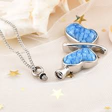 memorial jewelry for ashes beautiful butterfly pendant cremation urn necklace ashes keepsake