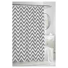 Kassatex Shower Curtain Grey And White Chevron Shower Curtain