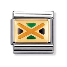 Jamiaca Flag Nomination Classic Jamaica Flag Charm Charms From Joshua James Uk