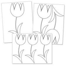 tulip pattern use the printable outline for crafts creating