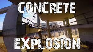 concrete fire pit exploding concrete explosion youtube