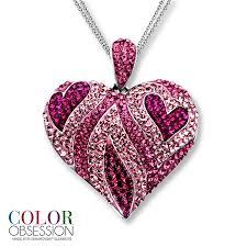 swarovski necklace pink images Kay pink swarovski elements heart necklace sterling silver jpg