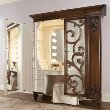 bathroom makeup vanity ideas furniture rectangle broken white stained oak wood make up table