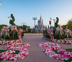 Castle Backdrop Disney World Offers Couples New Wedding Experience With Cinderella