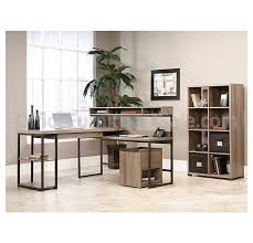 sauder transit outlet collection multi tiered l shaped desk 42 1