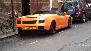 Lamborghini Gallardo Orange - orange lamborghini gallardo spyder with black wheels youtube