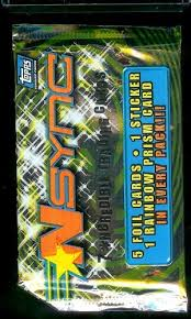 topps nsync trading cards packs 5 foil cards and 1 sticker per