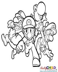 super mario bros super mario coloring pages