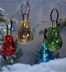 hanging edison bulb solar ornament plow hearth