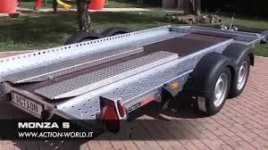 carrello porta auto rimorchio trasporto auto modello monza s