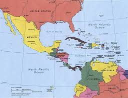 Map Caribbean by Map Of Central America And The Caribbean