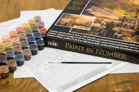 kinkade plaid city of light eiffel tower paint by number